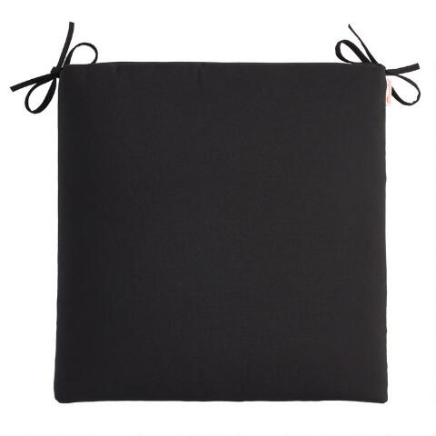 Sunbrella Black Canvas Outdoor Chair Cushion World Market
