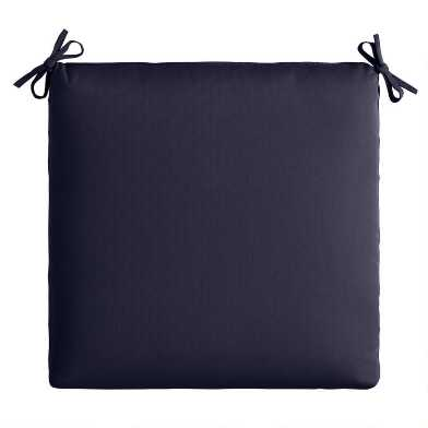 Sunbrella Navy Canvas Outdoor Chair Cushion