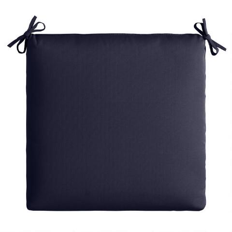 Remarkable Sunbrella Navy Canvas Outdoor Chair Cushion Ibusinesslaw Wood Chair Design Ideas Ibusinesslaworg