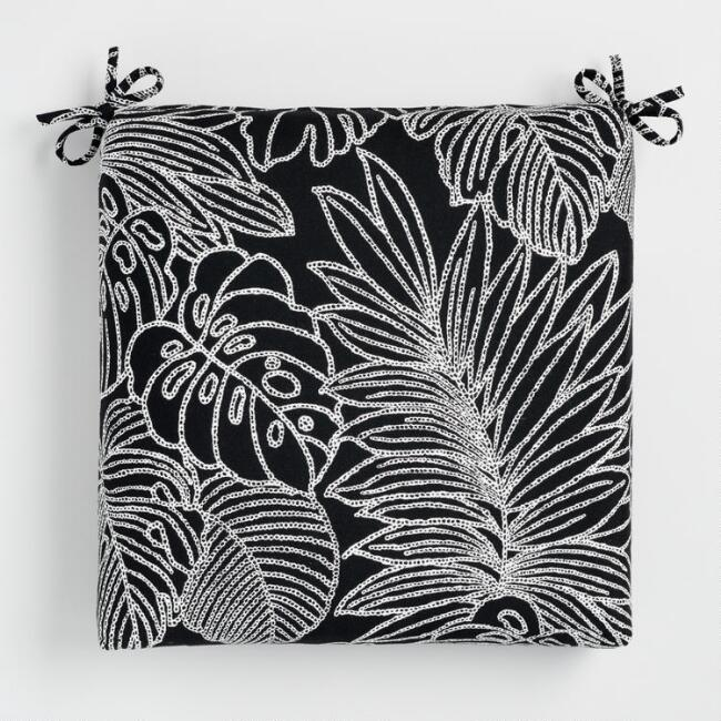 Sunbrella Palm Leaf Outline Outdoor Chair Cushion