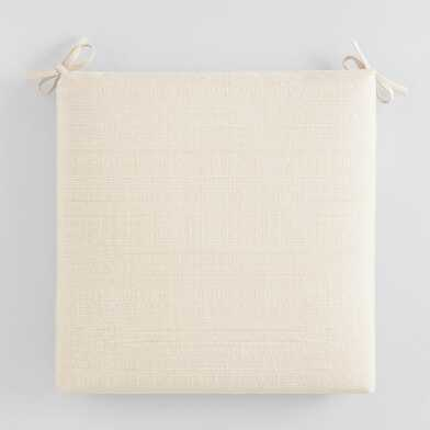 Sunbrella Antique Beige Linen Outdoor Chair Cushion