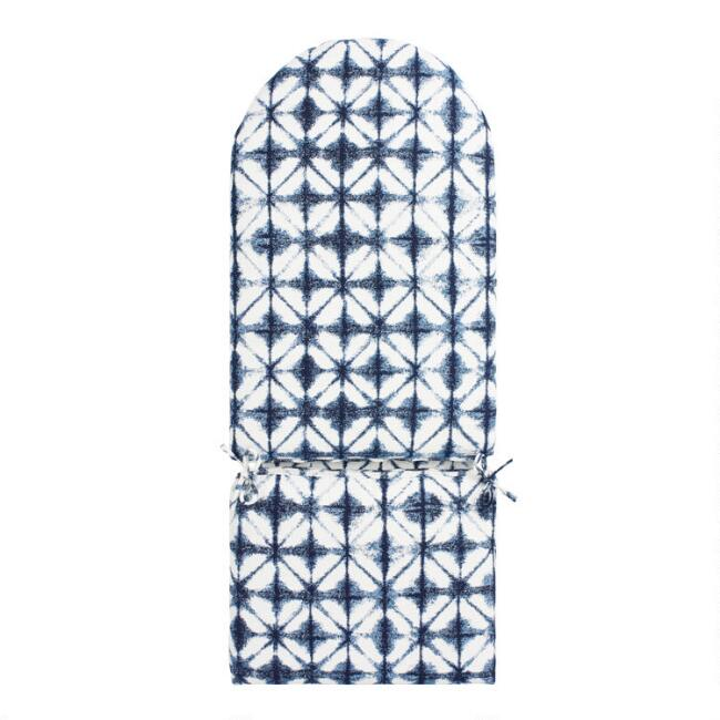 Sunbrella Indigo Tile Adirondack Chair Cushion