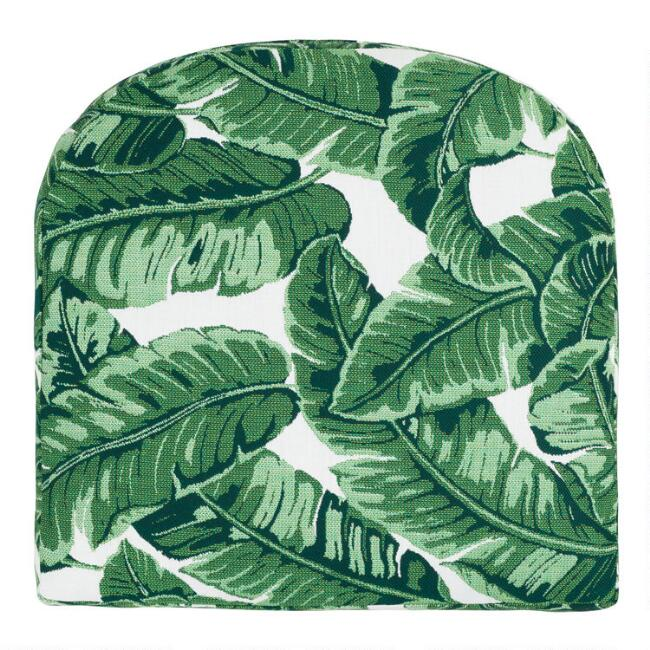 Sunbrella Tropical Leaf Gusseted Outdoor Chair Cushion