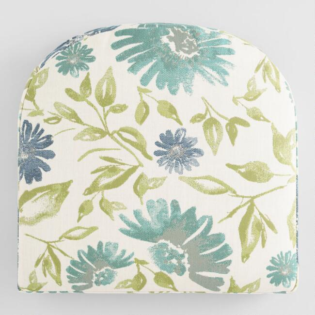 Sunbrella Watercolor Floral Gusseted Outdoor Chair Cushion