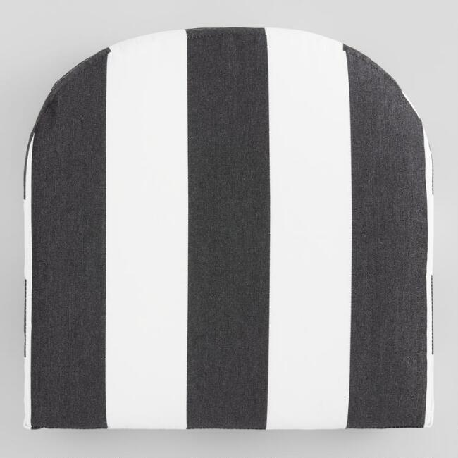 Sunbrella Cabana Stripe Gusseted Outdoor Chair Cushion