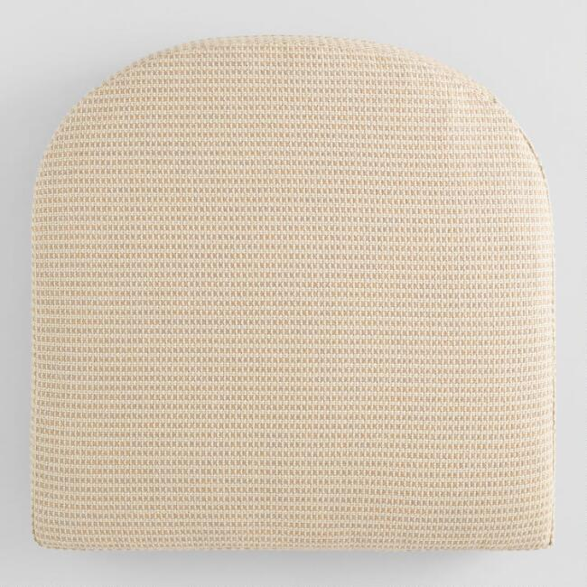 Sunbrella Tan Textured Gusseted Outdoor Chair Cushion