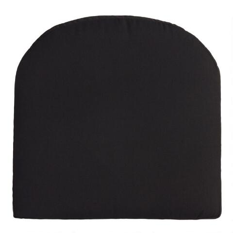 Sunbrella Black Canvas Gusseted Outdoor Chair Cushion World Market