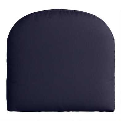 Sunbrella Navy Canvas Gusseted Outdoor Chair Cushion
