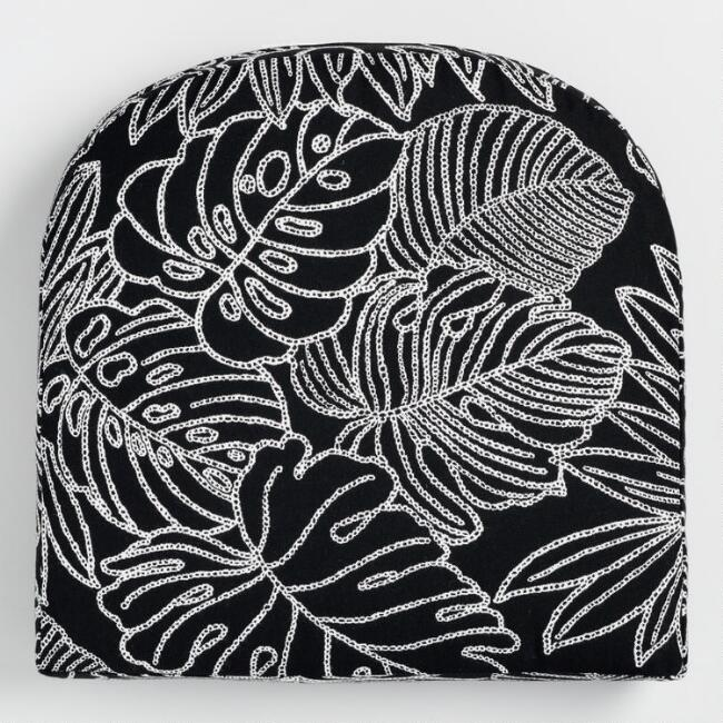 Sunbrella Palm Leaf Outline Gusseted Outdoor Chair Cushion