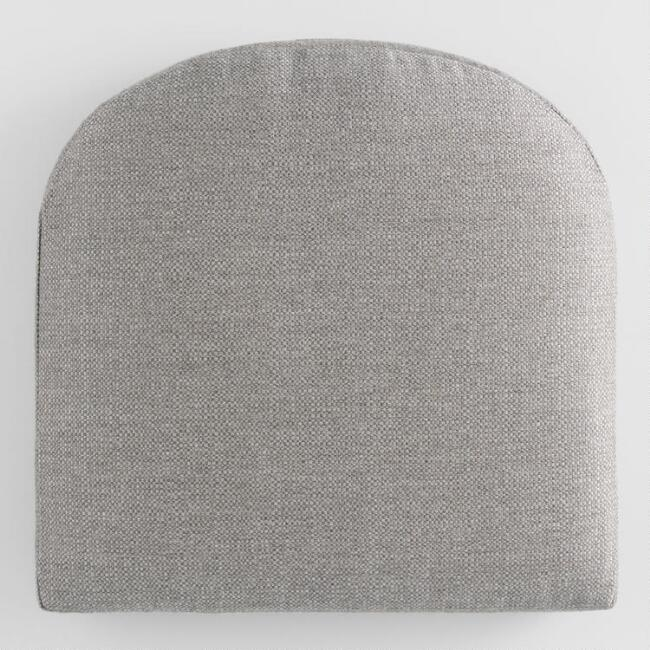 Sunbrella Stone Gray Action Gusseted Outdoor Chair Cushion