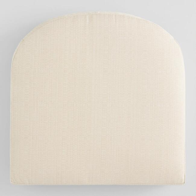 Sunbrella Antique Beige Linen Gusseted Outdoor Chair Cushion