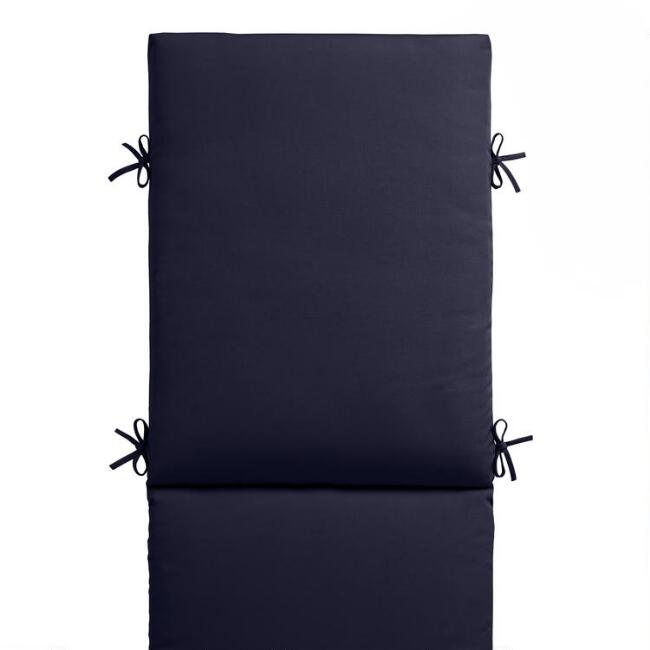 Sunbrella Navy Canvas Outdoor Chaise Lounge Cushion