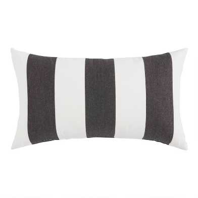 Sunbrella Cabana Stripe Outdoor Lumbar Pillow