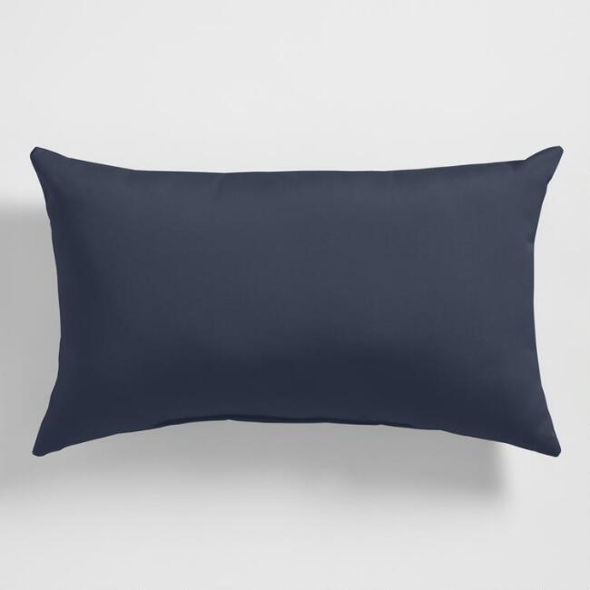 Sunbrella Indigo Spectrum Outdoor Lumbar Pillow