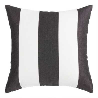 Sunbrella Cabana Stripe Outdoor Throw Pillow