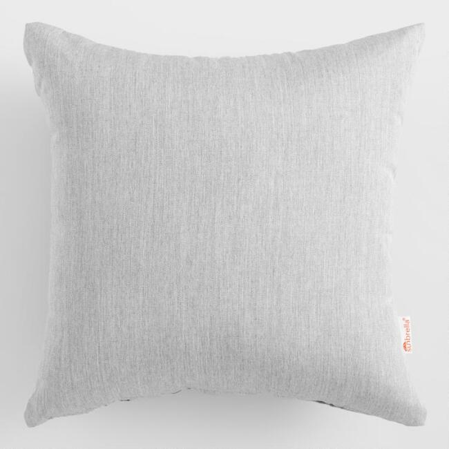 Sunbrella Granite Canvas Outdoor Throw Pillow
