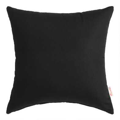 Sunbrella Black Canvas Outdoor Throw Pillow