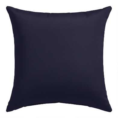Sunbrella Navy Canvas Outdoor Throw Pillow
