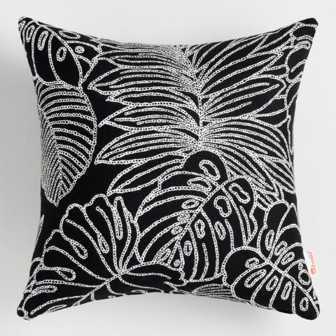 Enjoyable Sunbrella Palm Leaf Outline Outdoor Throw Pillow Ocoug Best Dining Table And Chair Ideas Images Ocougorg