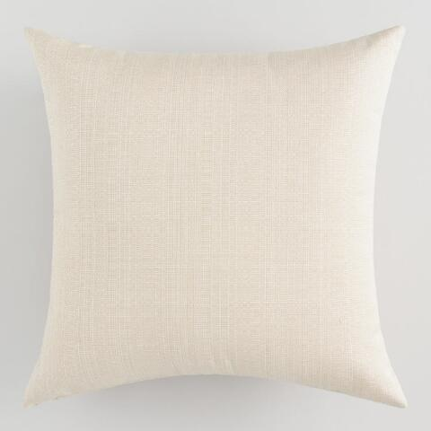 Sunbrella Antique Beige Linen Outdoor Throw Pillow World Market