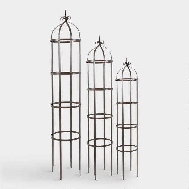 Metal Plant Towers Set of 3