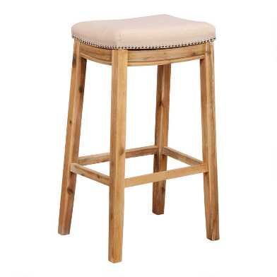 Natural Linen Mia Upholstered Barstool