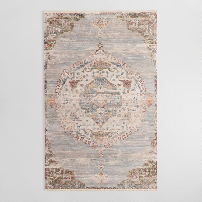 Gray Medallion Persian Style Area Rug