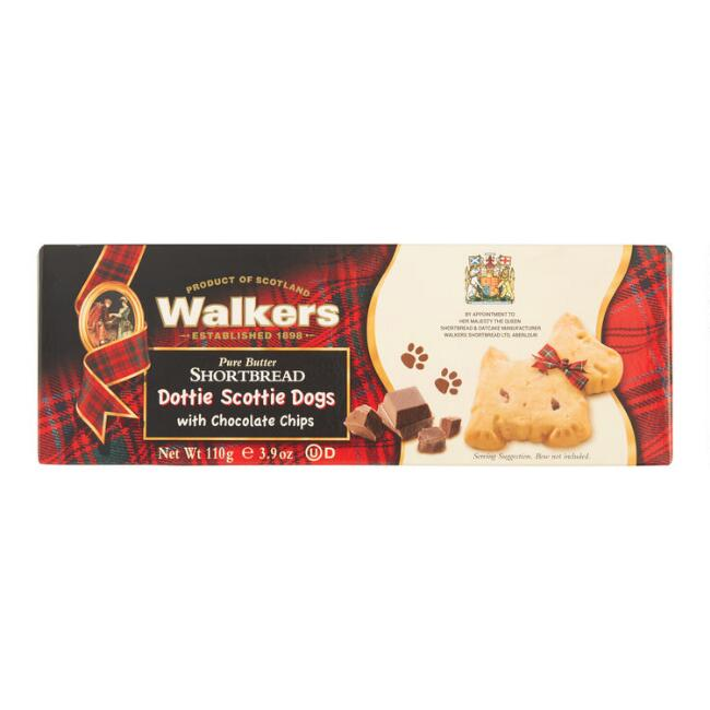 Walkers Dottie Scottie Chocolate Chip Shortbread Cookies