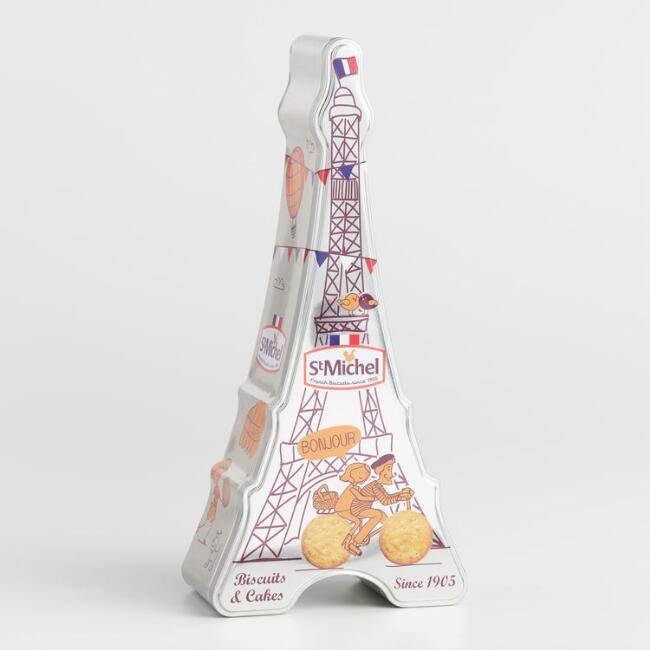 St. Michel Eiffel Tower Cookie Tin