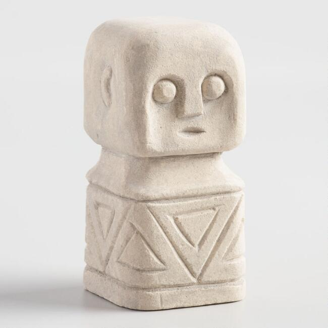 Small Square Stone Sumba Figure