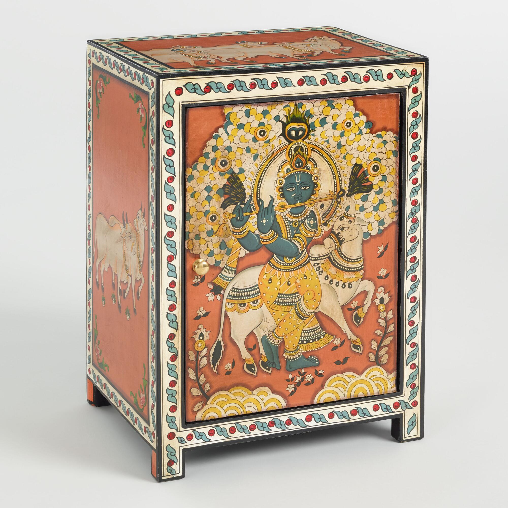Hand Painted Wood Krishna Cabinet by World Market
