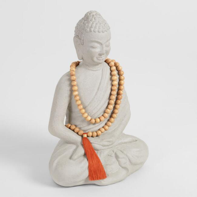Buddha Statue with Mala Beads