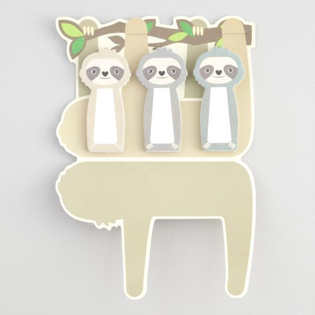 Sloth Sticky Page Markers Set of 3