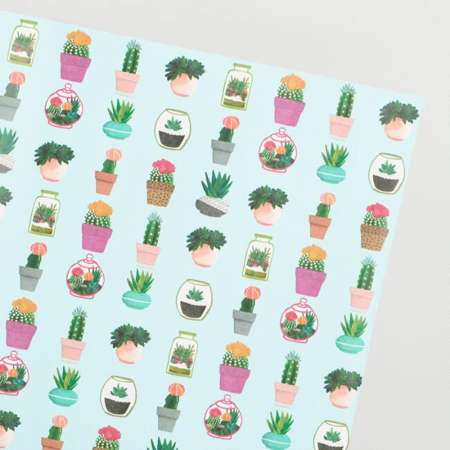 Cactus Kraft Wrapping Paper Roll