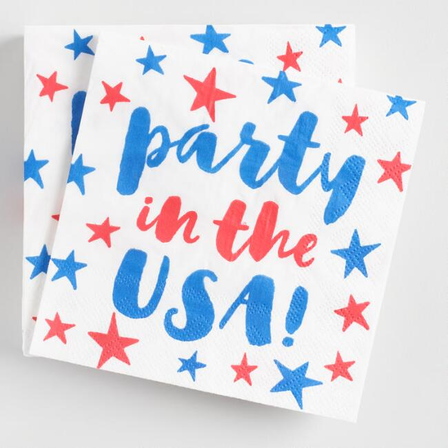 Party in the USA Beverage Napkins 20 Count