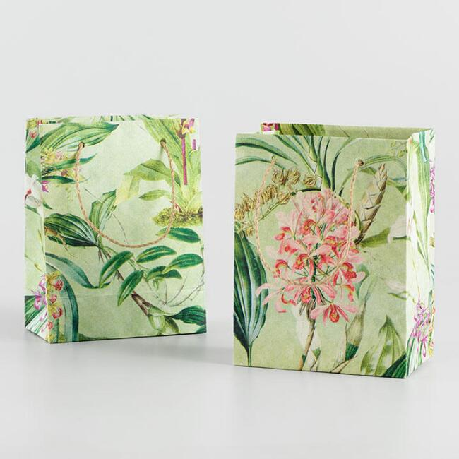 Small Floral Greenhouse Gift Bag