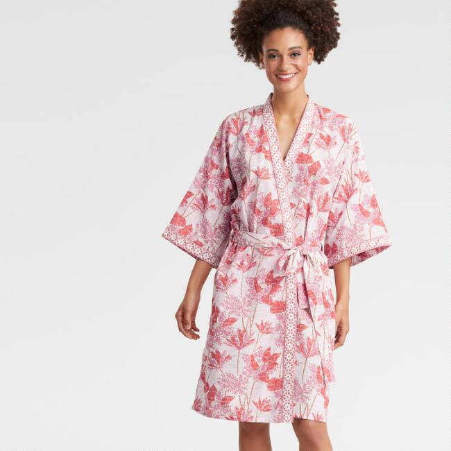 Pink and Coral Floral Alana Robe