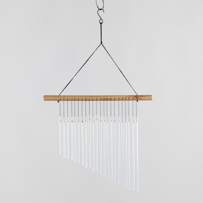 Wood and Metal Single Row Wind Chime
