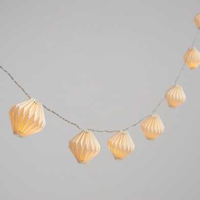 Origami Prisms LED 10 Bulb Battery Operated String Lights