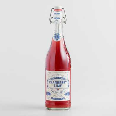 Sparkling Cranberry Lime French Soda