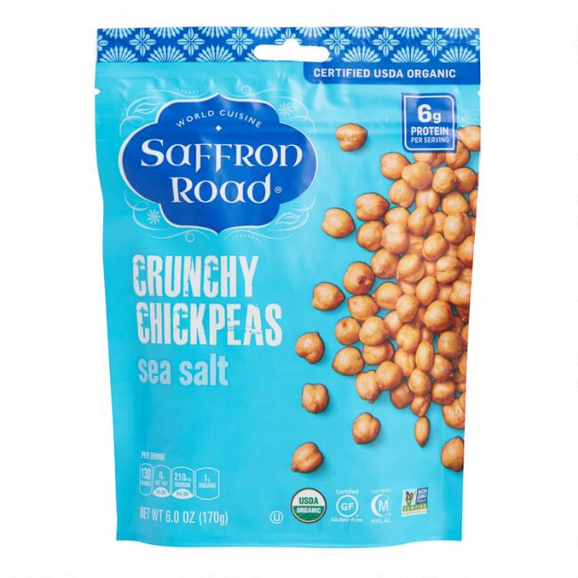 Saffron Road Sea Salt Crunchy Chickpeas Set of 12