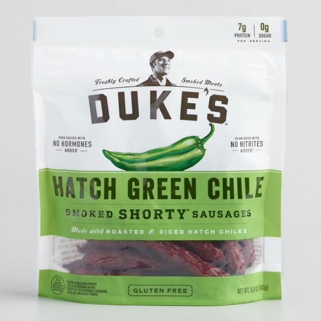 Duke's Green Chile Smoked Shorty Sausages