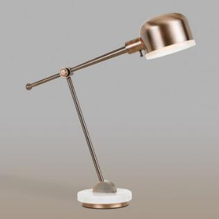 Marble And Copper Madison Task Desk Lamp