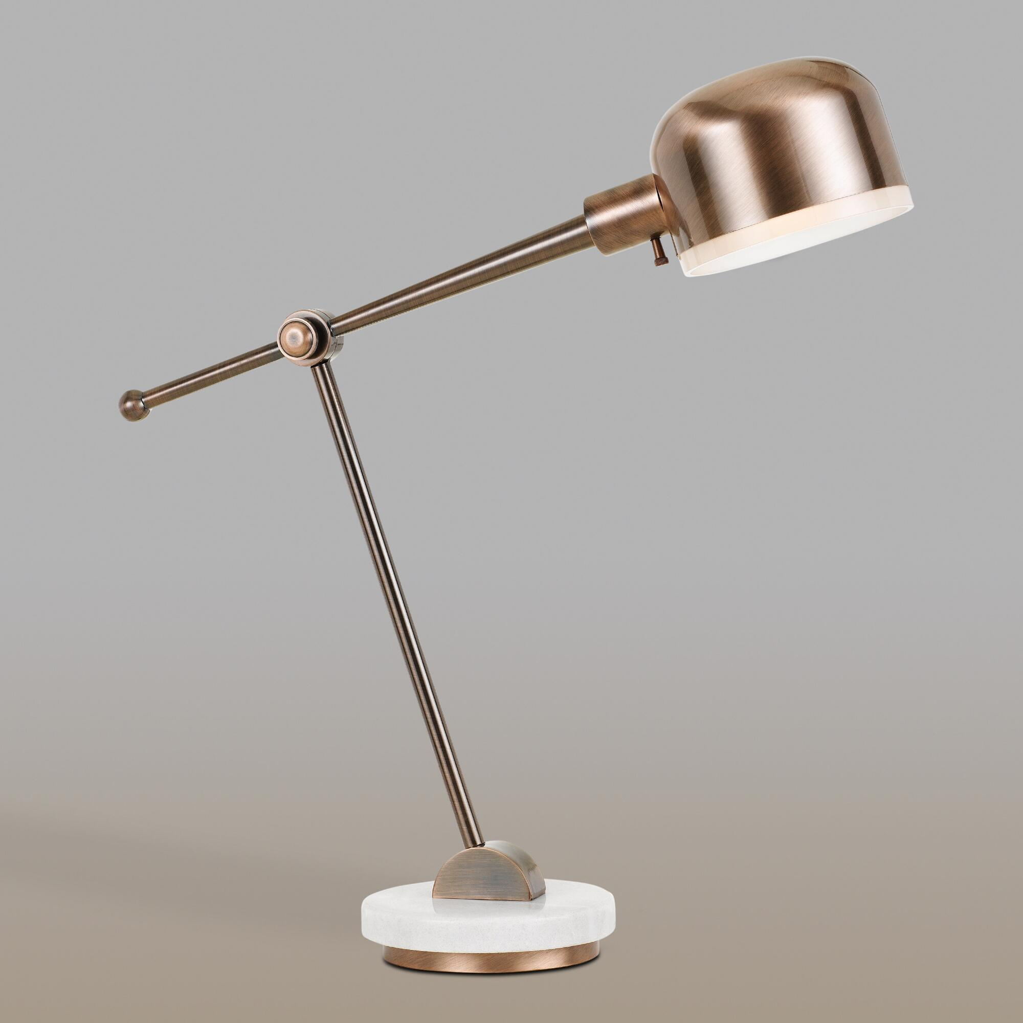 Marble and Copper Madison Task Desk Lamp by World Market