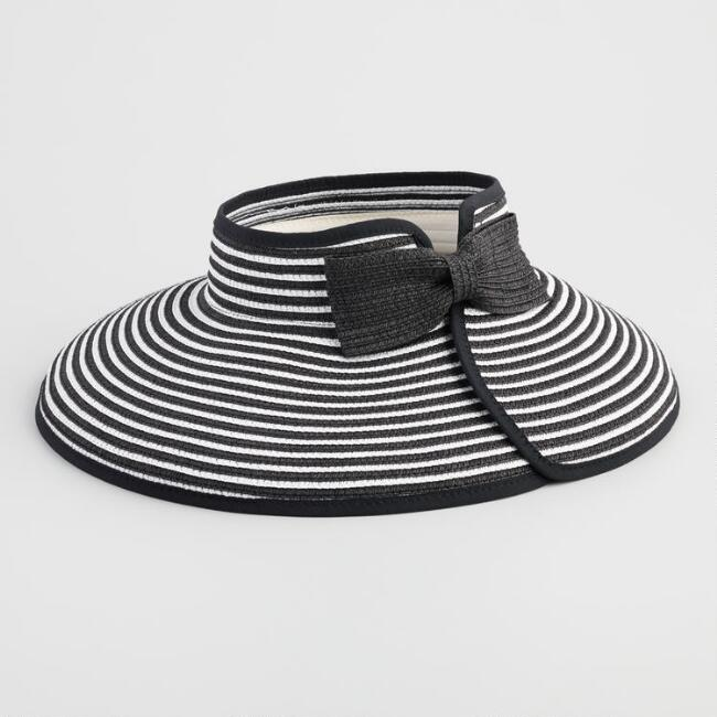 Black And White Striped Visor