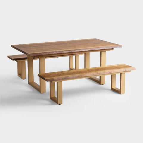 Tremendous Live Edge Wood Sloan Dining Bench Gmtry Best Dining Table And Chair Ideas Images Gmtryco