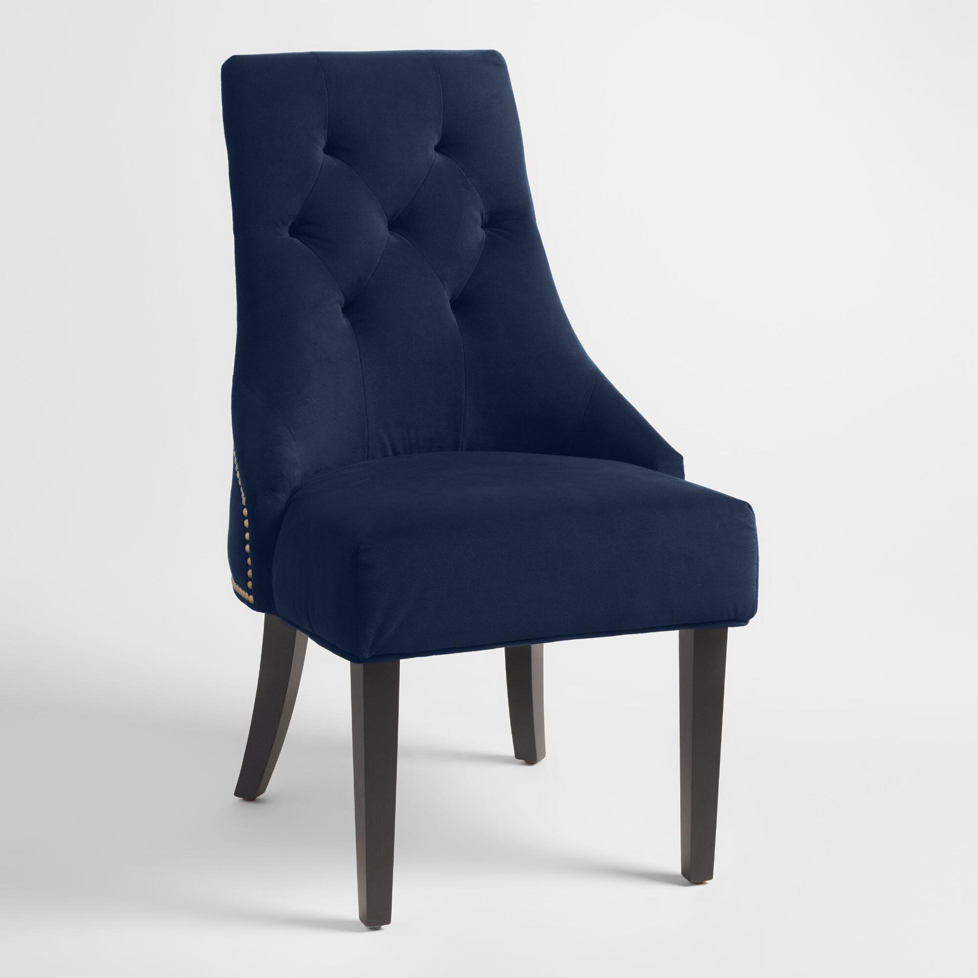 Ink Blue Tufted Lydia Upholstered Dining Chairs Set Of 2 - Fabric by World Market