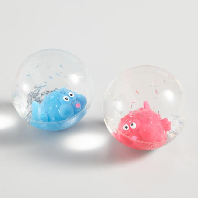 Toysmith Glitter Critter Bouncy Balls Set of 2