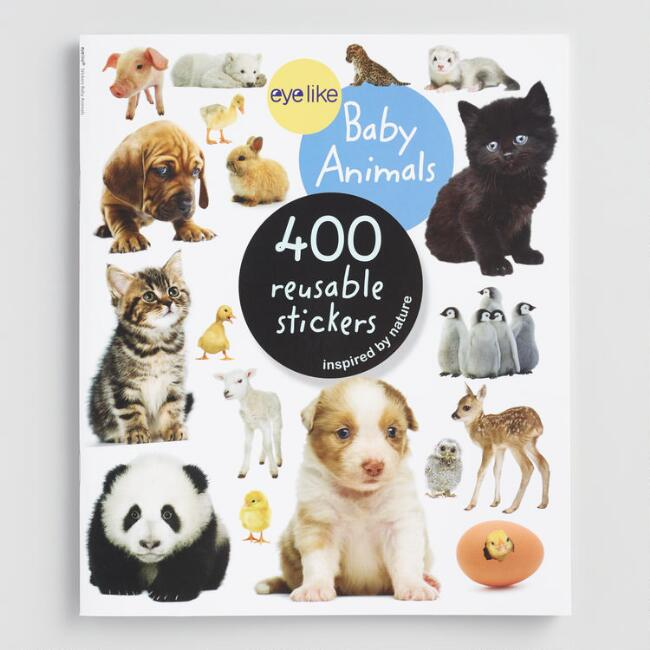 Eyelike Baby Animals Sticker Book