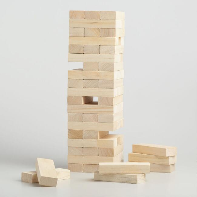 Giant Toppling Tower Game